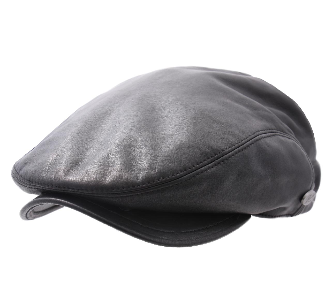 Bailey of Hollywood Mens Byles Leather Flat Cap
